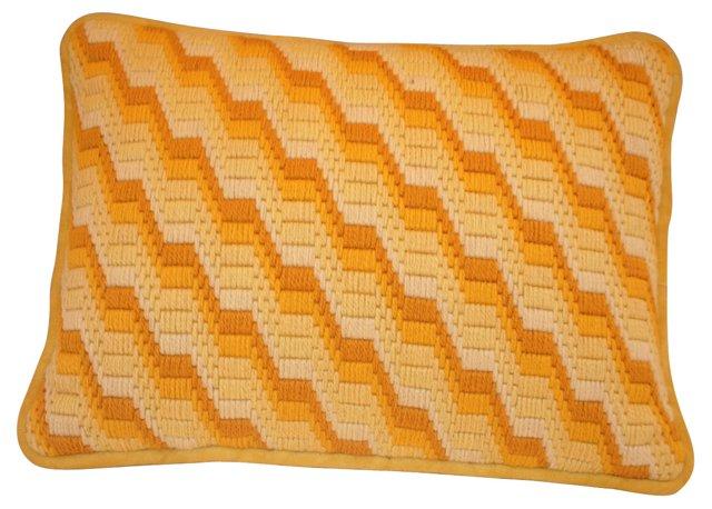 Yellow Bargello Pillow