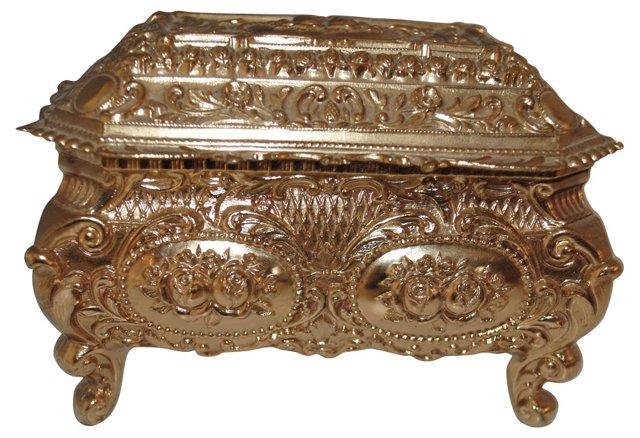 Ornate Brass Dresser Box