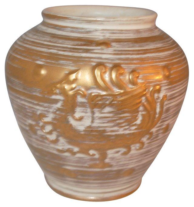 Chinoiserie Gold Dragon Vase