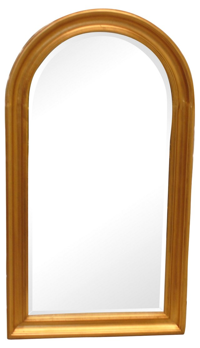 Gilt French-Style Arched Mirror