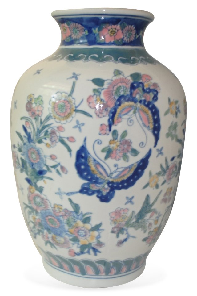 Chinoiserie Butterfly Vase