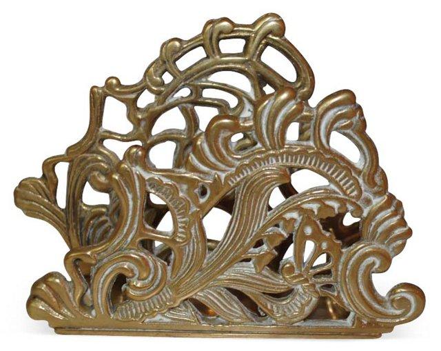 Ornate Brass  Mail Holder