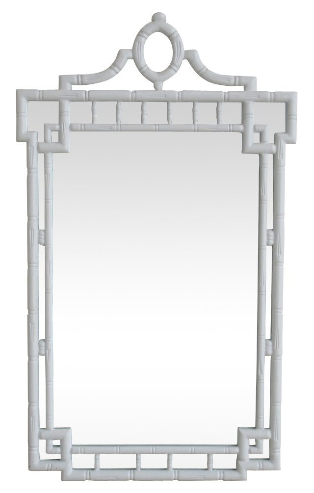 Faux-Bamboo Greek Key Mirror