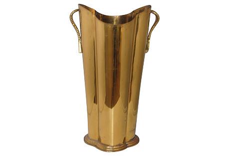 Brass Umbrella Stand w/ Tassel Handles