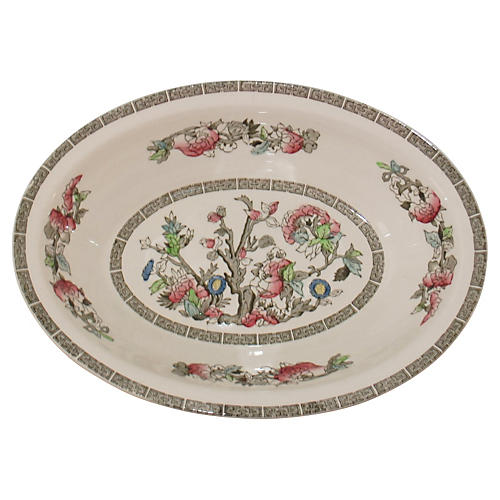 English Cherry Blossom Serving Bowl