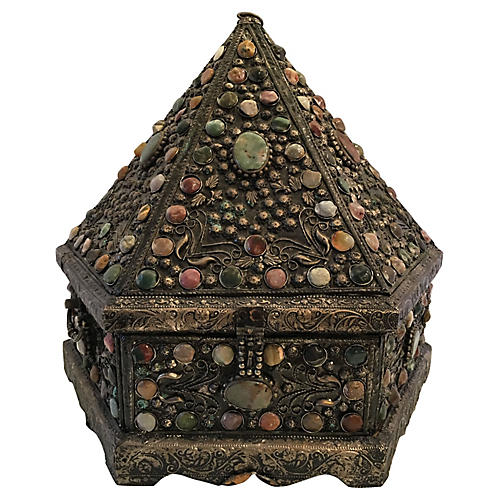 Monumental Cabochon Pyramid Box