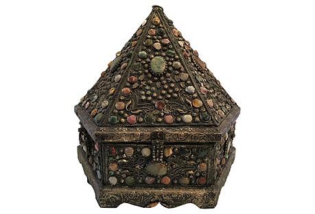 Monumental Cabochon Pyramid Box