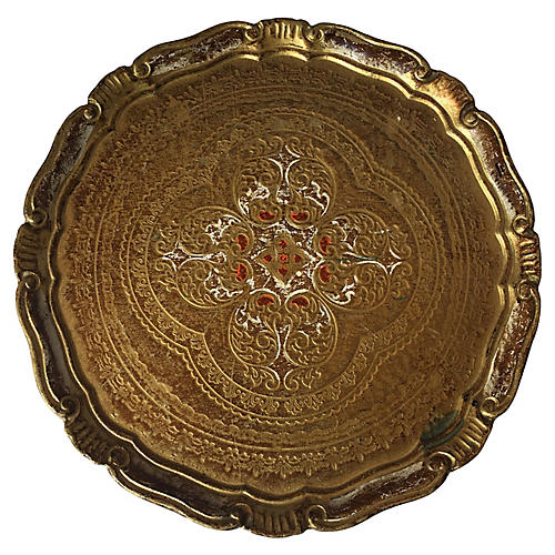 Gold Florentine Bar Tray