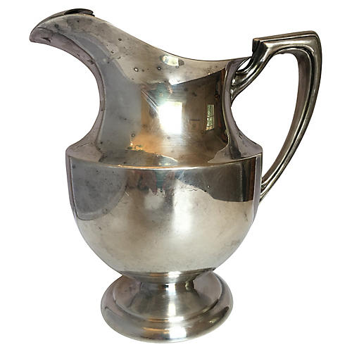 Silver-Plate Pitcher by Crescent