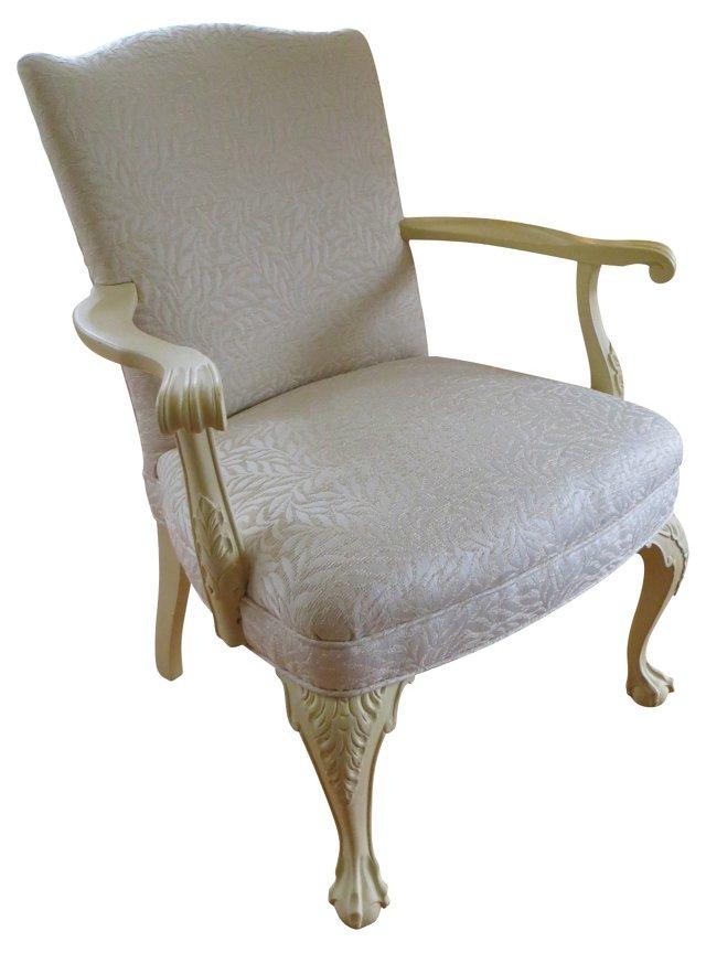 Upholstered Cream  Armchair