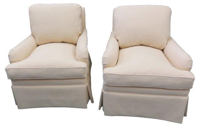 Charles Stewart Club Chairs, Pair