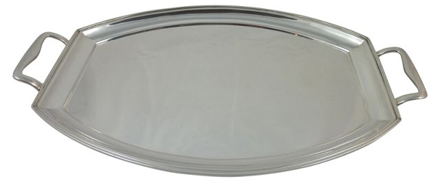 Art Deco English Sterling Silver Tray