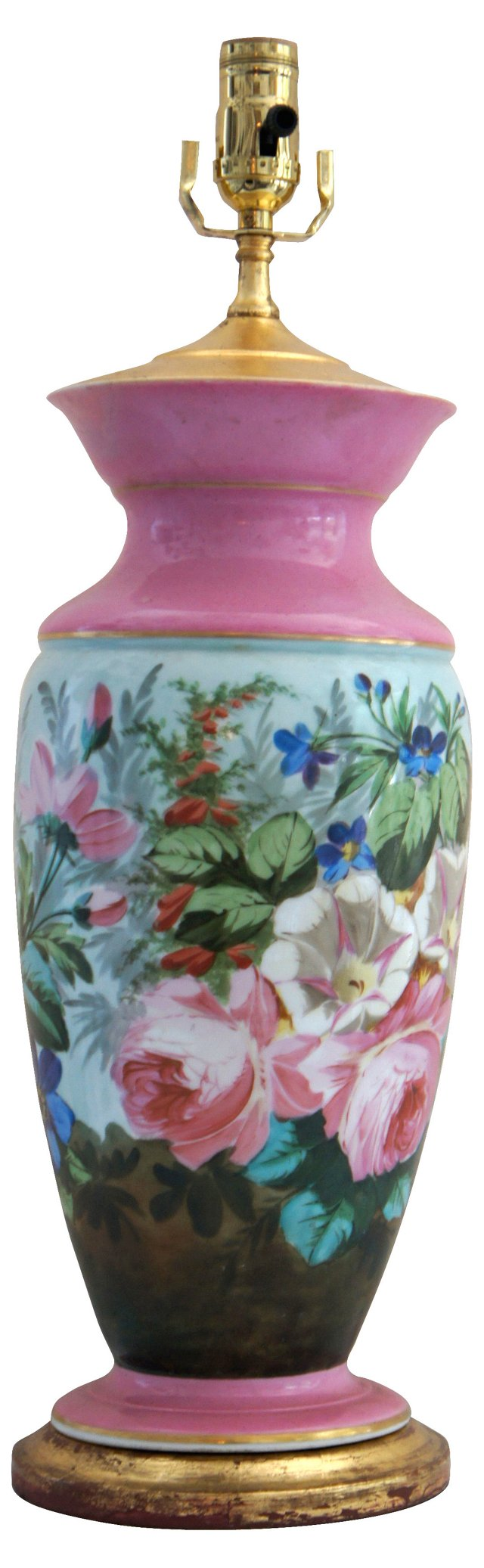 Painted Floral Lamp