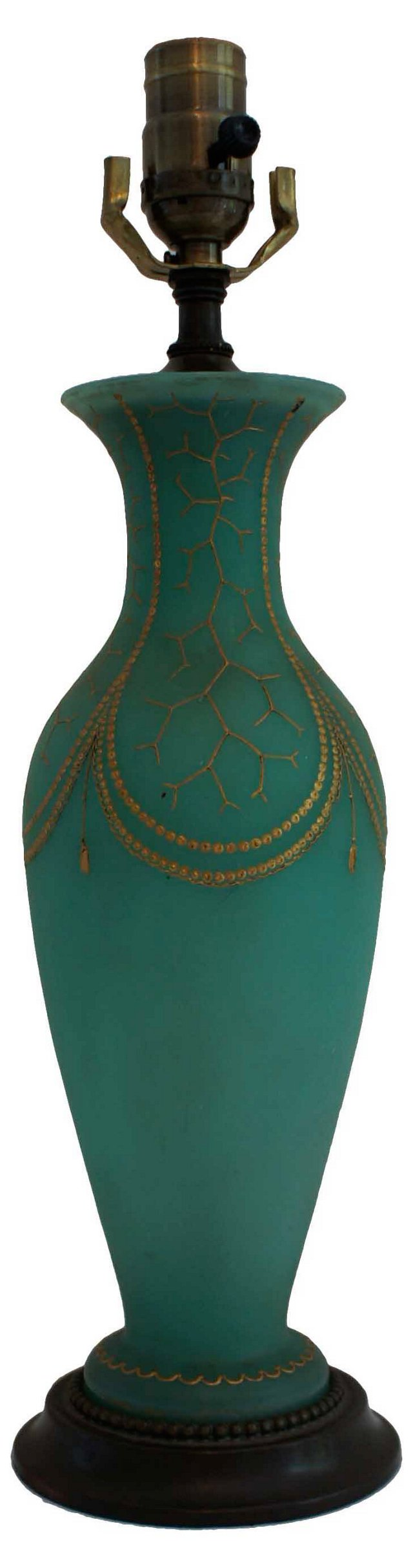 Turquoise Green Lamp