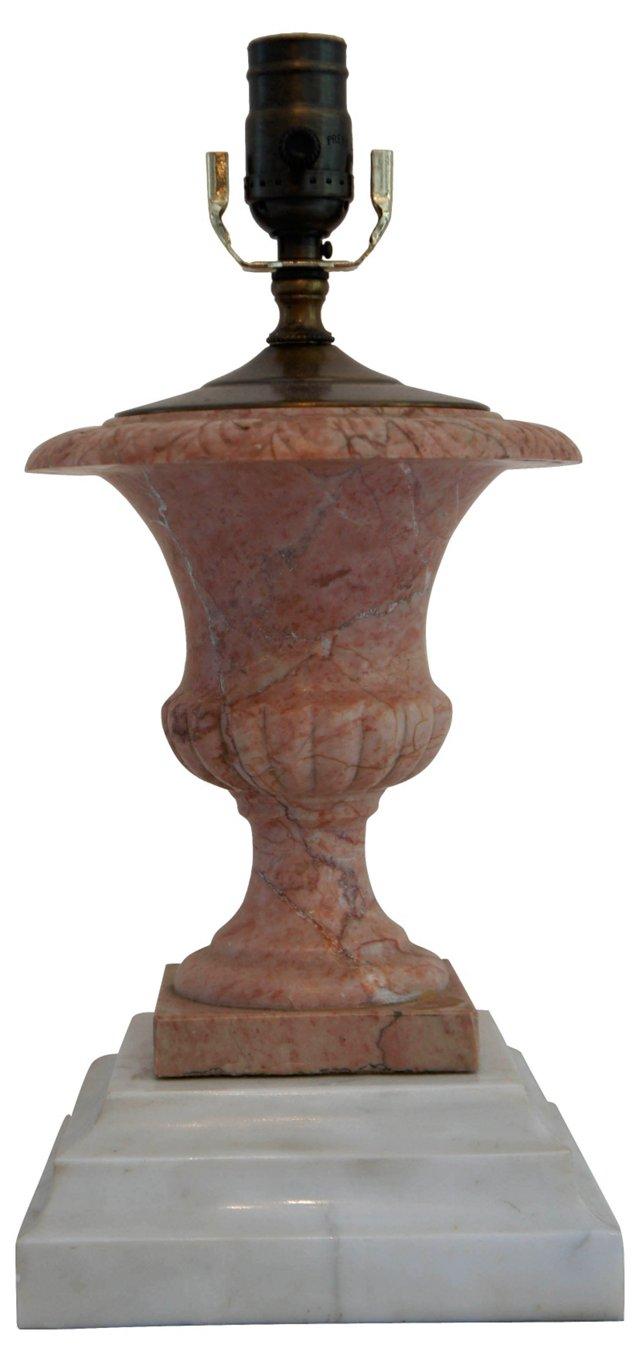 Pink Marble Urn Lamp