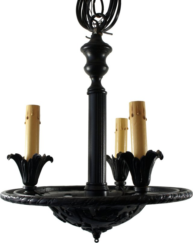 Iron Black Painted Chandelier