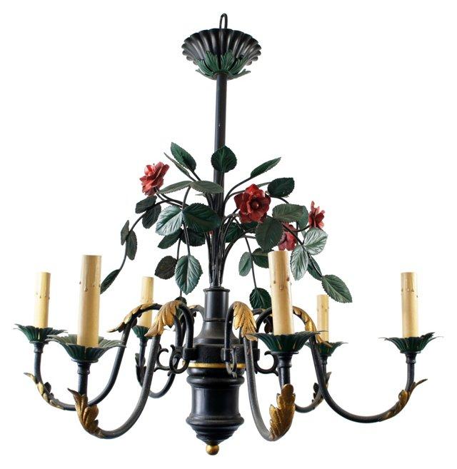 6-Light Rose Chandelier