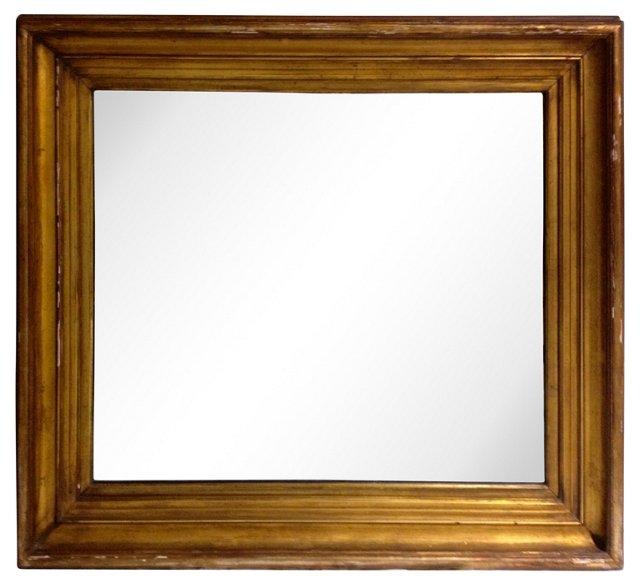 19th-C. Gilt Framed Mirror