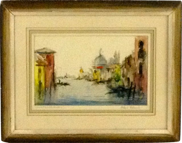 Grand Canal in Venice Watercolor