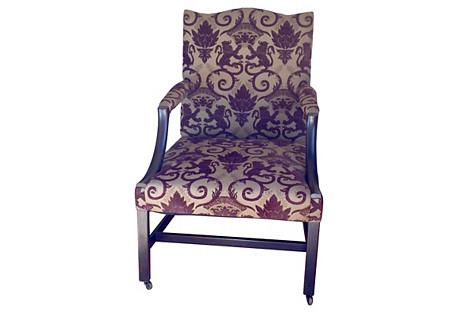 18th-C. English Gainsborough Armchair