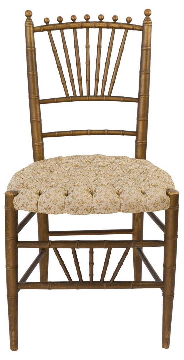 Antique Faux-Bamboo Side Chair
