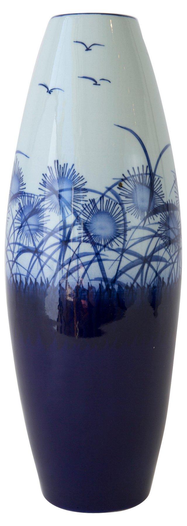 Modern Blue & White Chinese Vase