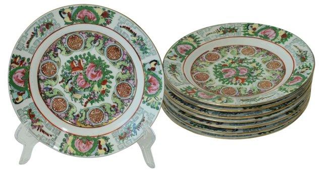 Chinese Dessert Plates, S/8