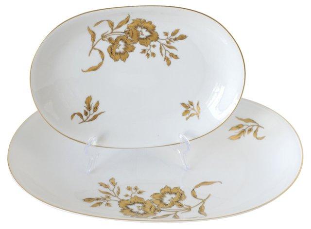 Haviland Golden Glory Platters, Pair