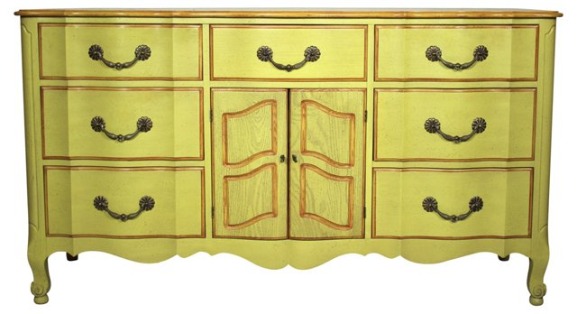 Yellow Dresser w/ Orange Accents