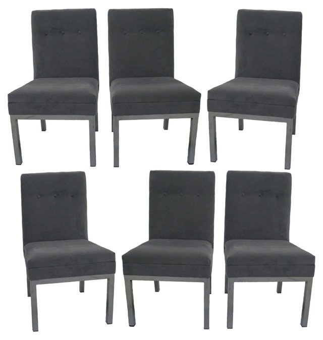 Milo Baughman Dining Chairs, S/6