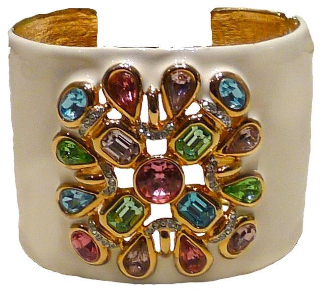 Kenneth Jay Lane Jeweled Cuff Bracelet