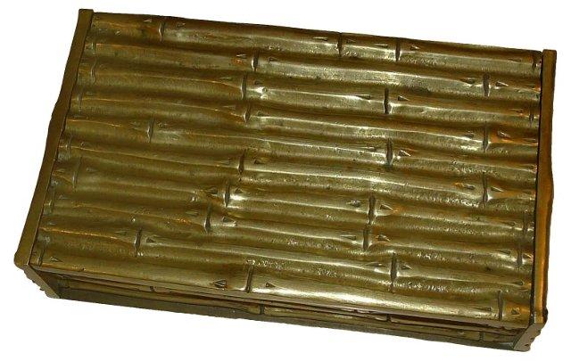 Brass Bamboo-Style Box