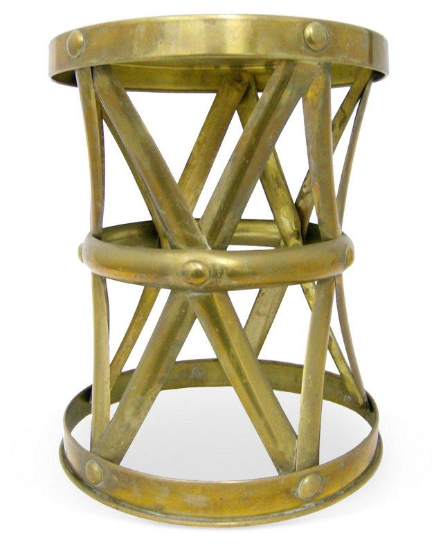 Brass X Garden Stool