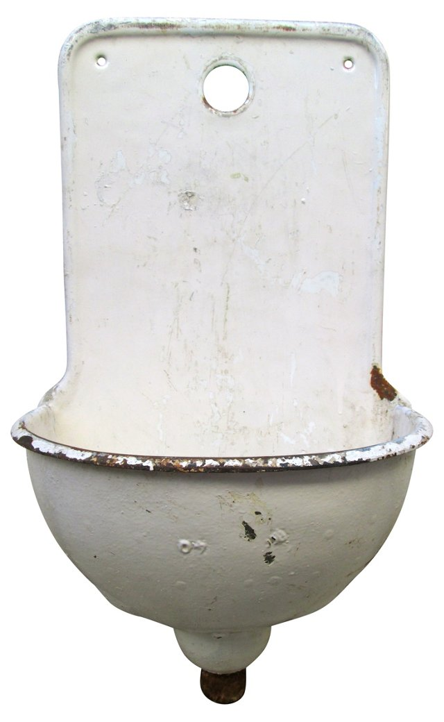 19th-C. French Iron Lavabo