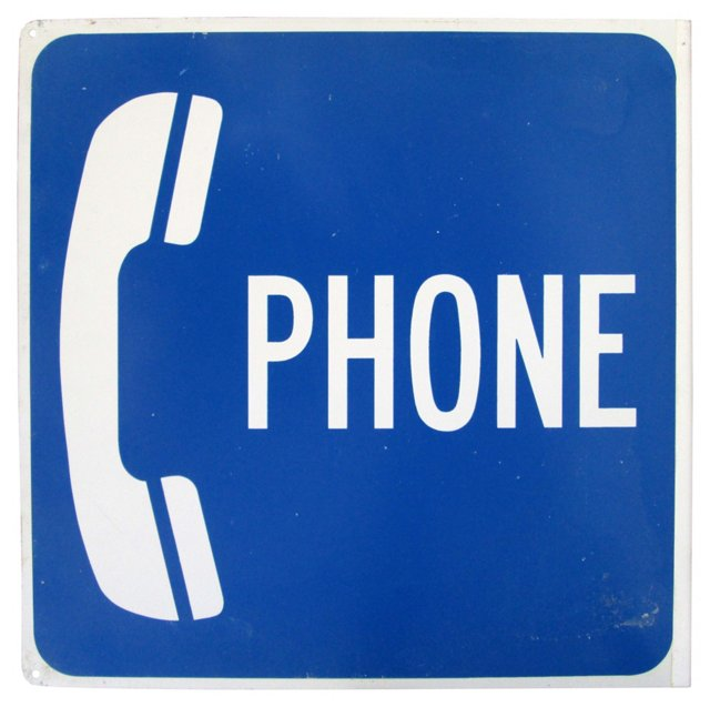 Double-Sided  Public Telephone Sign