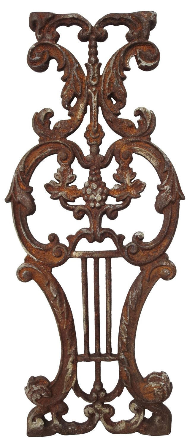 French Cast Iron Architectural Panel