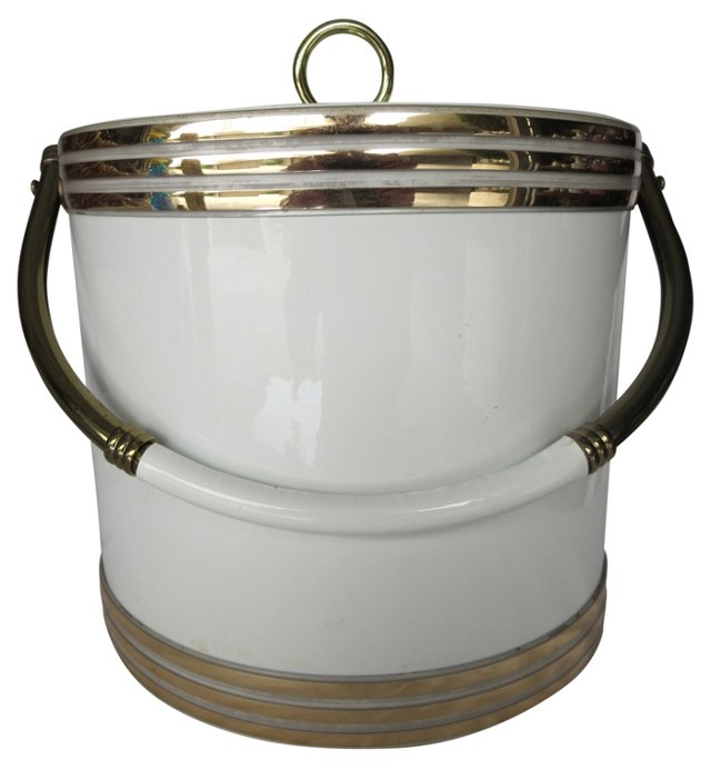 1960s White Ice Bucket