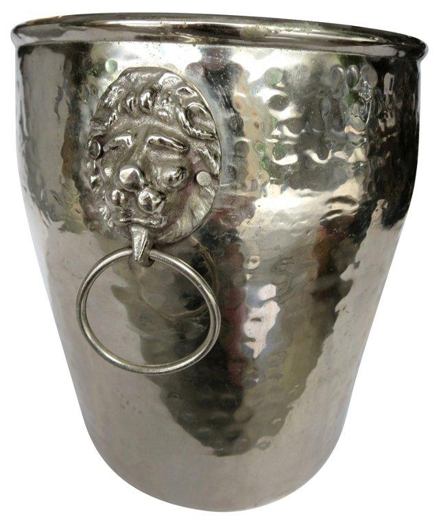 Silverplate Lion's Head Champagne Bucket