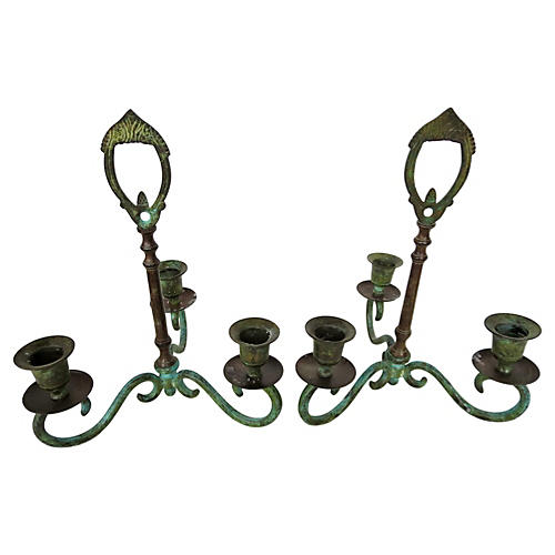 Candleholders, Pair