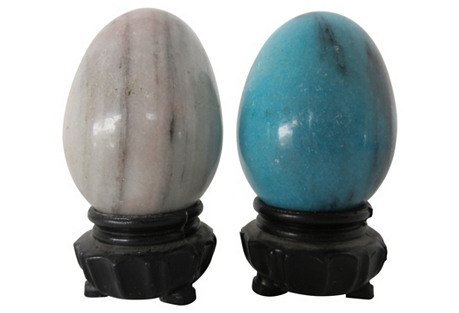 Marble Eggs on Stands, S/2