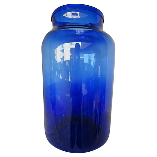 Cobalt Blue French Canning Jar