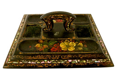 19th-C. French Chinoiserie Vanity Tray