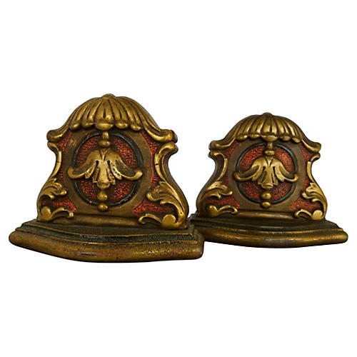 Florentine Gilded Bookends