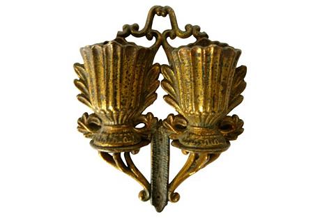 Antique French Bronze Match Striker