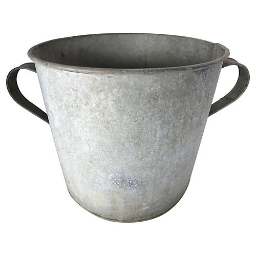 French Zinc Double-Handled Planter