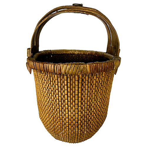 Chinese Willow Vegetable Basket