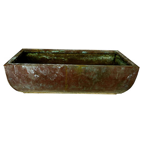 Large French Copper Jardinière