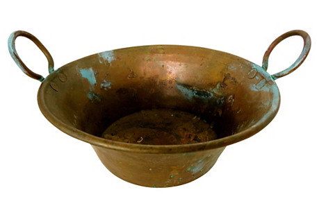 Antique French Copper Cachepot