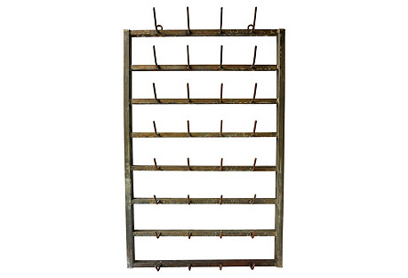 French Vintner's Bottle Wall Rack