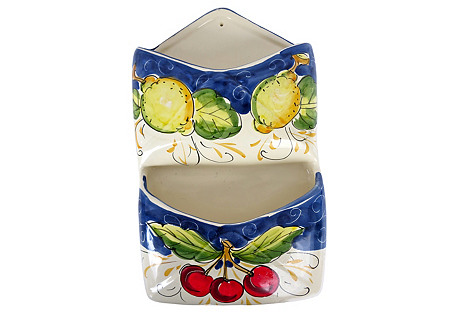 Italian Majolica Wall Pockets